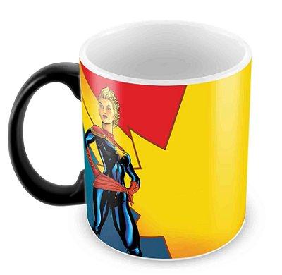 Caneca Mágica - Capitã Marvel - Cartoon
