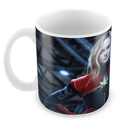 Caneca Branca - Capitã Marvel - Filme