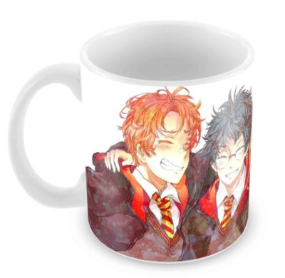 Caneca Branca - Harry Potter - Cartoon