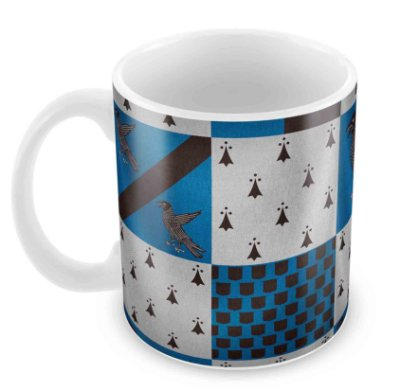 Caneca Branca - Harry Potter - Corvinal (Ravenclaw) - Fundo