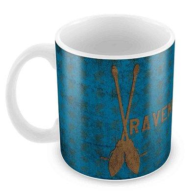 Caneca Branca - Harry Potter - Corvinal(Ravenclaw) - Logo