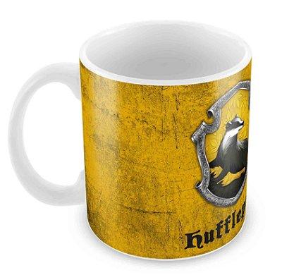 Caneca Branca - Harry Potter - Lufa-Lufa(Hufflepuff) - Logo 2