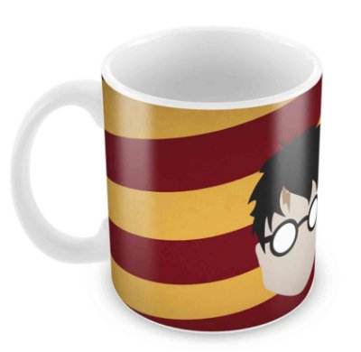 Caneca Branca - Harry Potter - Harry