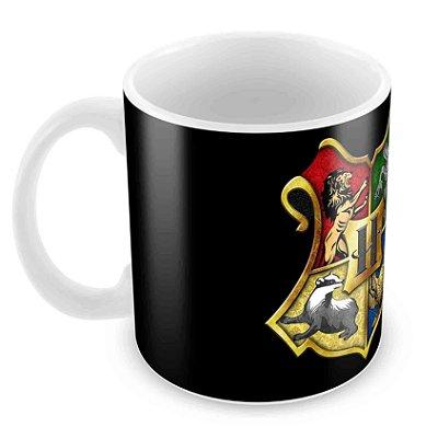Caneca Branca - Harry Potter - Casas