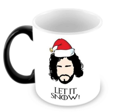 Caneca Mágica - Natal - Game of Thrones - Let it