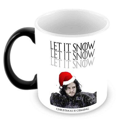 Caneca Mágica - Natal - Game of Thrones - Snow