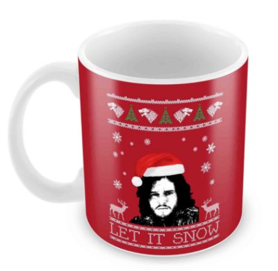 Caneca Branca - Natal - Game of Thrones - Jon