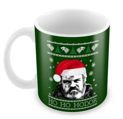 Caneca Branca - Natal - Game of Thrones - Hodor Xmas