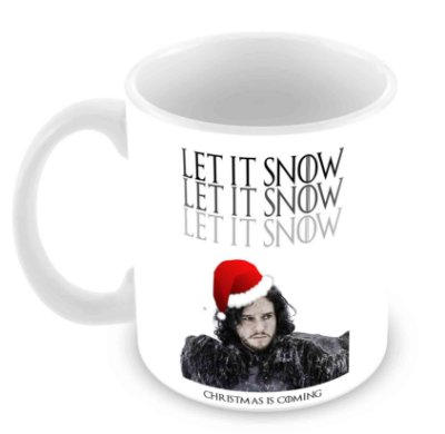 Caneca Branca - Natal - Game of Thrones - Snow