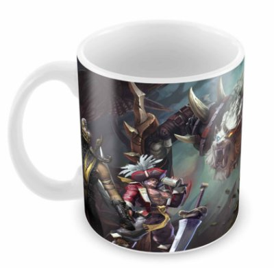 Caneca Branca - League of Legends - Leão