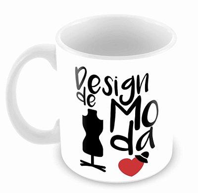 Caneca Branca - Profissões - Design de Moda