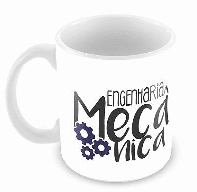 Caneca Branca - Profissões - Engenharia Mecânica