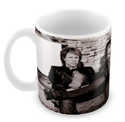 Caneca Branca - Bon Jovi