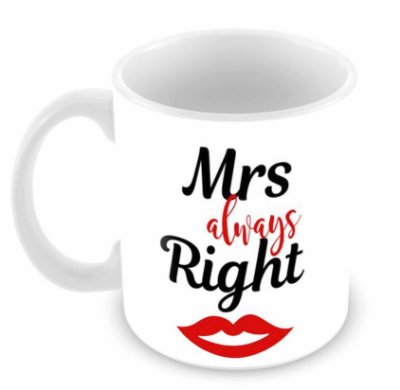 Caneca Branca - Mrs Always Right