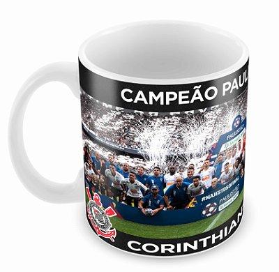 Caneca Branca - Corinthians - Campeão Paulista 2019
