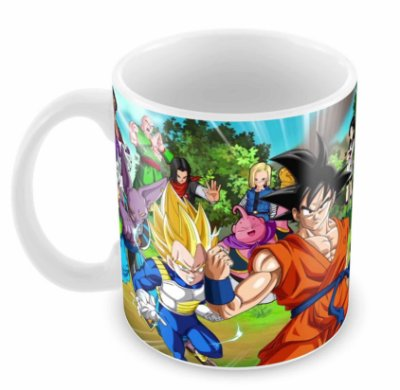 Caneca Branca - Dragon Ball Z