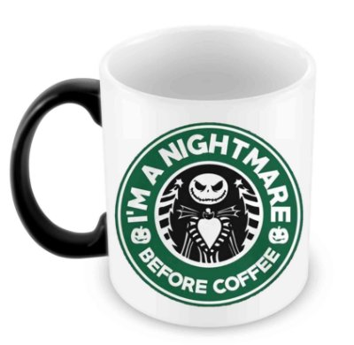 Caneca Mágica - Jack Nightmare Before Coffee