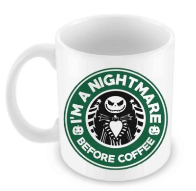 Caneca Branca - Jack Nightmare Before Coffee