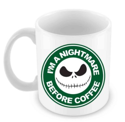 Caneca Branca - Nightmare Before Coffee