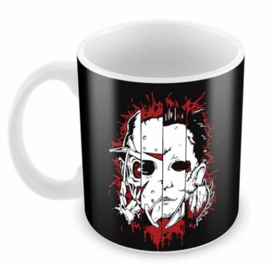 Caneca Branca - Horror Faces