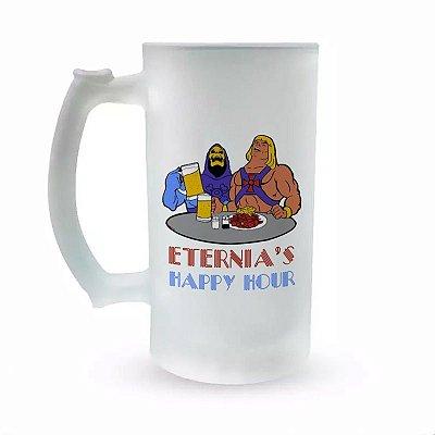 Caneca de Chopp Vidro Jateado - Especial Fórum Conan - Eternia's Happy Hour