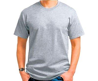 Camiseta para sublimação cinza mescla tradicional adulto