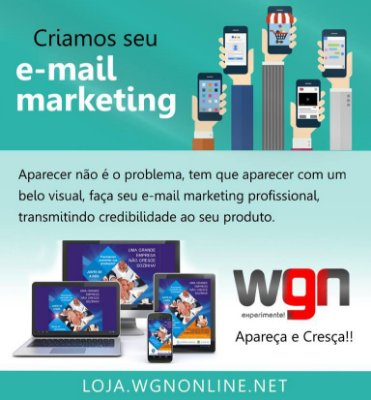Arte Final, Criação de  e-mail-marketing