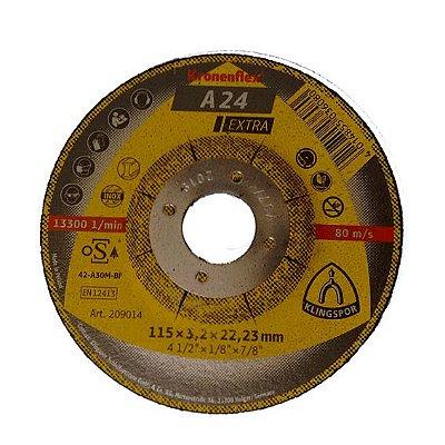 "DISCO DE CORTE/DESBASTE 4 1/2""X3,2MM A24 EXTRA - KLINGSPOR"