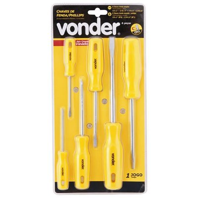 CHAVE FENDA/PHILLIPS JG  6PC CRV VONDER