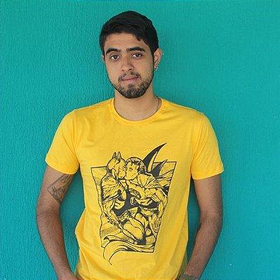 Camiseta Heróis Slim Amarela