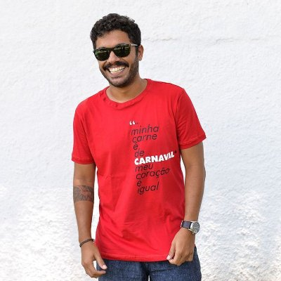 Camiseta Carne de Carnaval Vermelha