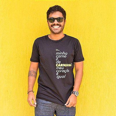 Camiseta Masculina Carne de Carnaval Preta