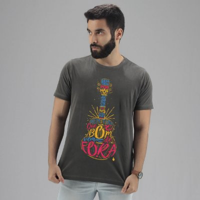 Camiseta Estonada  Jorge Aragão Chumbo