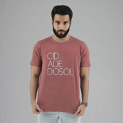 Camiseta Estonada Cidade do Sol Goiaba