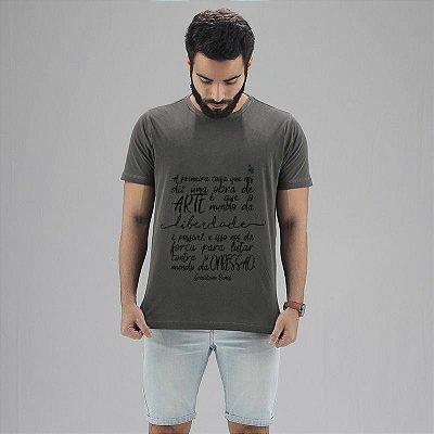 Camiseta Graciliano Ramos Chumbo