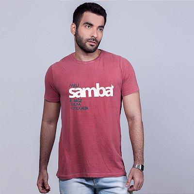 Camiseta Estonada Samba Sem Etiqueta Goiaba