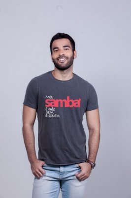 Camiseta Estonada Samba Sem Etiqueta Chumbo