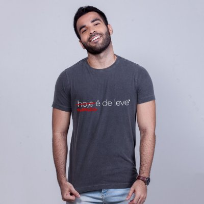 Camiseta De Leve Estonada Chumbo