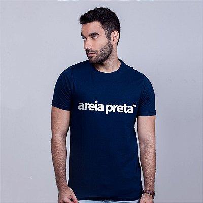 Camiseta Areia  Preta Azul Marinho