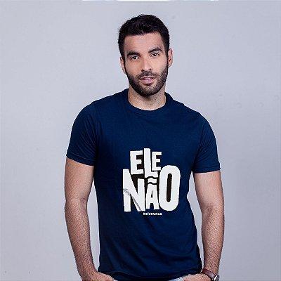 Camiseta Ele Não Umazarte Azul Marinho