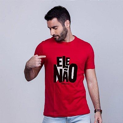 Camiseta Ele Não Umazarte Vermelha