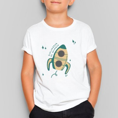 Camiseta Infantil Explorador do Universo