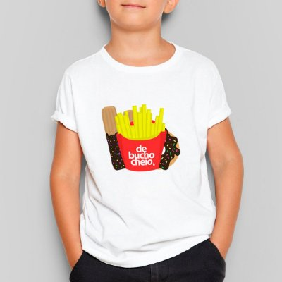 Camiseta Infantil De Bucho Cheio