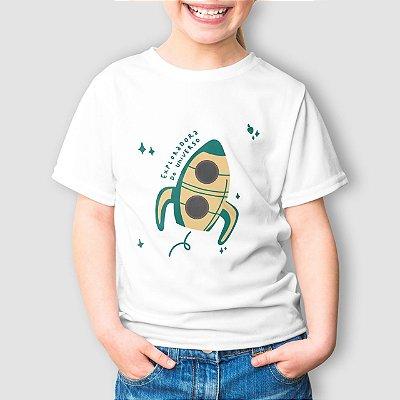 Camiseta Infantil Exploradora do Universo