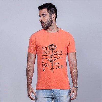 Camiseta Estonada Ninguém Solta Laranja