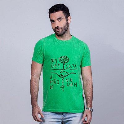 Camiseta Estonada Ninguém Solta Verde