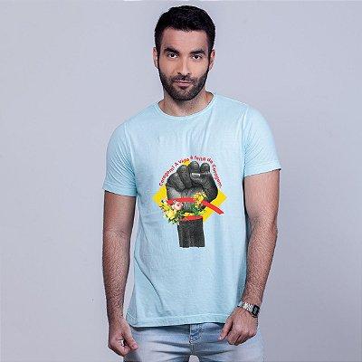 Camiseta Estonada Coragem Azul Umazarte