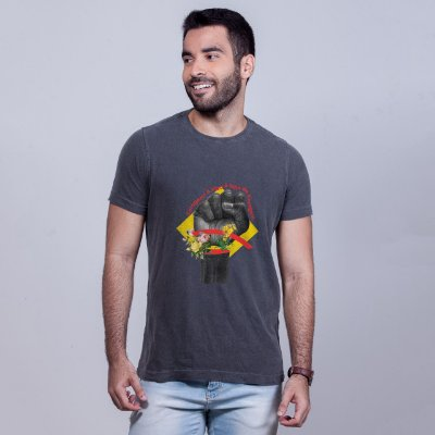 Camiseta Estonada Coragem Chumbo Umazarte