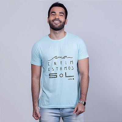 Camiseta Estonada Estamos Sol Azul Carito