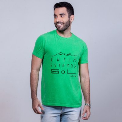 Camiseta Estonada Estamos Sol Verde Carito